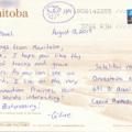 Postcrossing, Kanada, Manitoba, Céline
