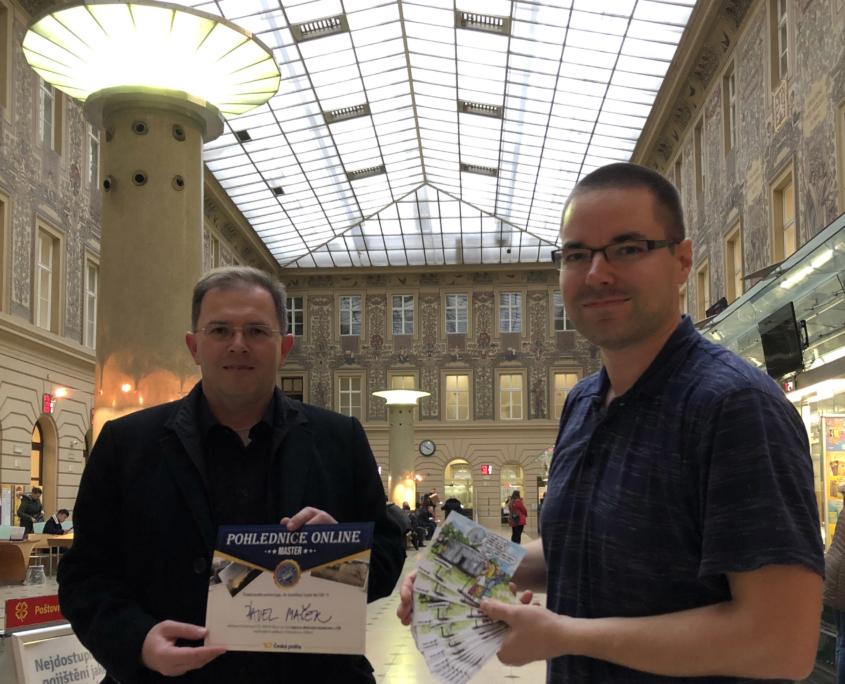 Česká pošta - Praha 1 a předávání diplomu pro Satelitní řopík